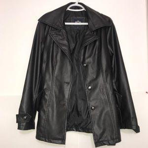 Emporio&Co. Italian Black Soft Leather Trench Coat